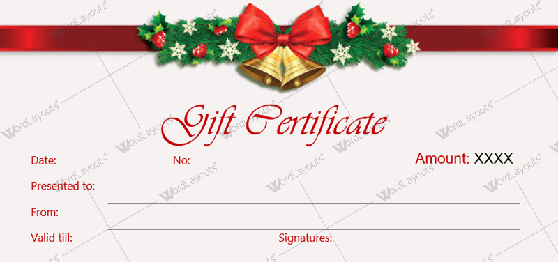 Ms Word Gift Certificate Template Best Of Christmas Gift Certificate Template 36