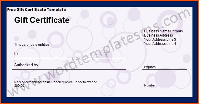 Ms Word Gift Certificate Template Elegant 13 Microsoft Word T Certificate Template