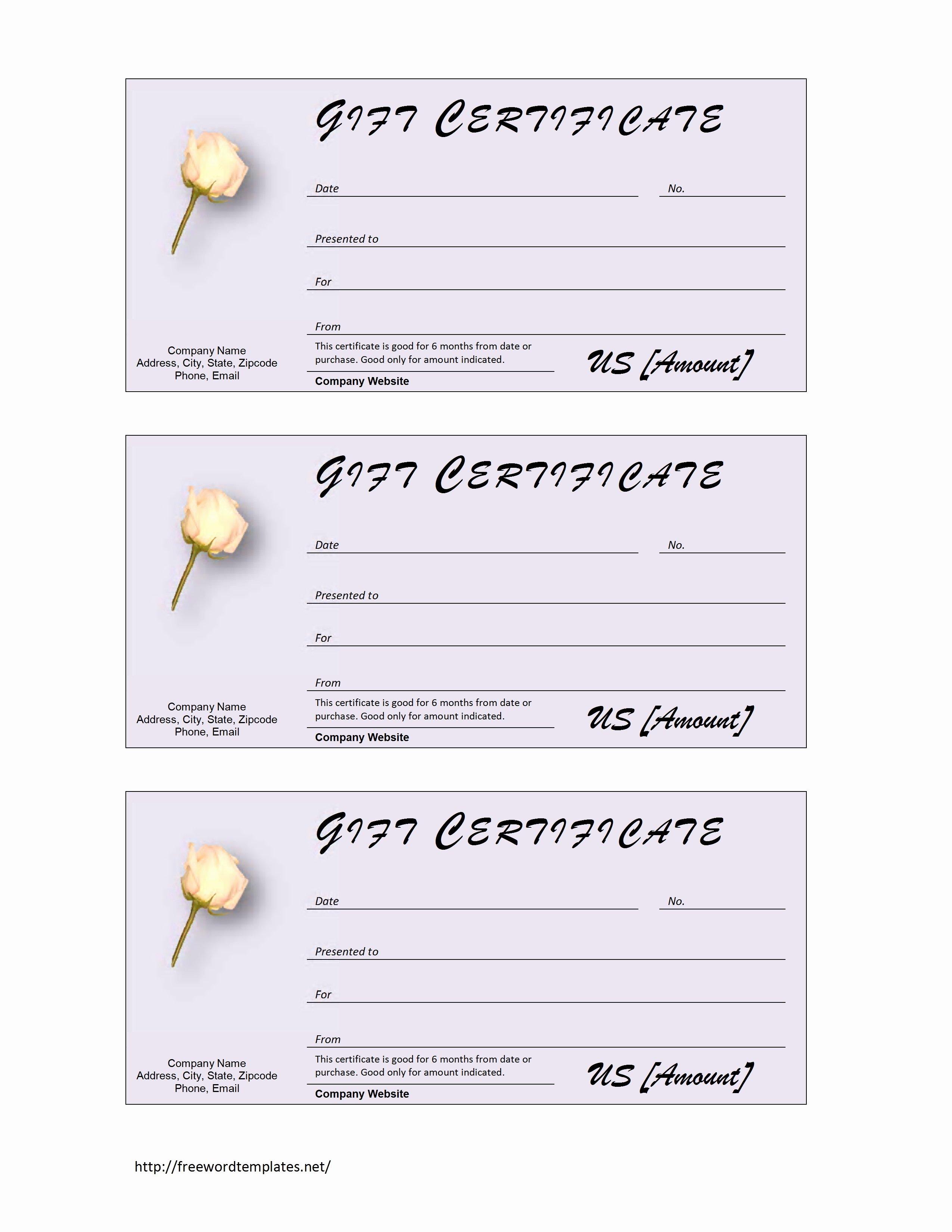 Ms Word Gift Certificate Template Elegant 7 Best Of Microsoft Word Certificate Template