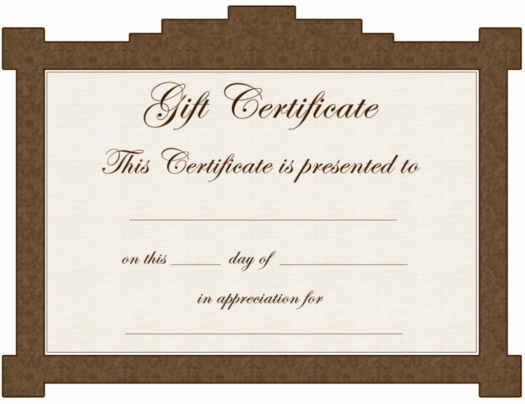 Ms Word Gift Certificate Template Elegant Gift Certificate Template