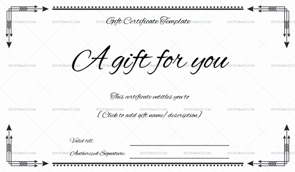 Ms Word Gift Certificate Template Inspirational Business Gift Certificate for Microsoft Word