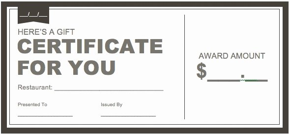 Ms Word Gift Certificate Template Unique Certificate Downloads Free