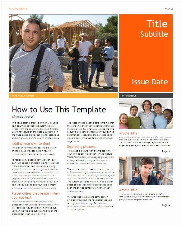 Ms Word Newsletter Template Free Elegant 5 School Newsletter Templates Doc Pdf