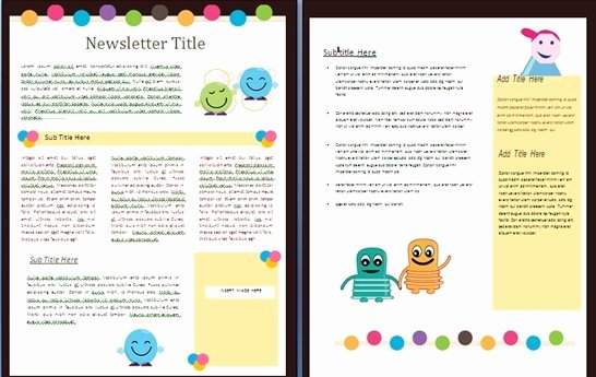 Ms Word Newsletter Template Free Lovely Free Newsletter Templates
