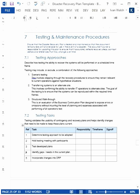 Ms Word Test Template New 9 Test Procedure Template Word Ueile