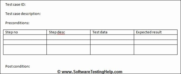Ms Word Test Template New Writing Test Cases From Srs Document with Sample Test
