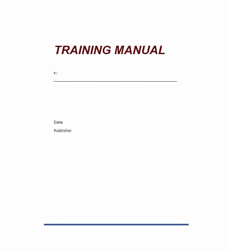 Ms Word Training Manual Template Inspirational Training Manual 40 Free Templates & Examples In Ms Word