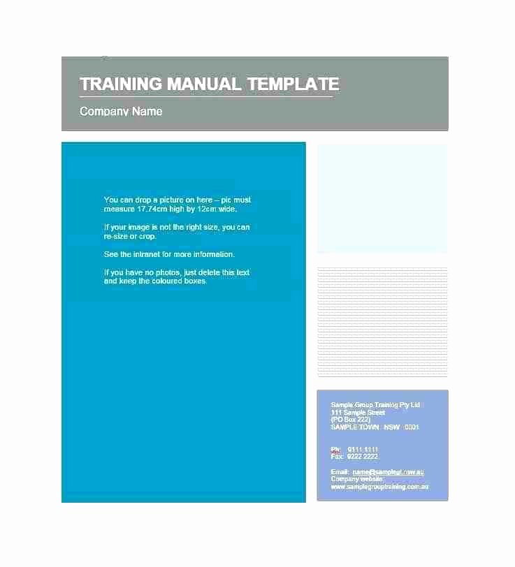 Ms Word Training Manual Template Luxury Safe Working Instruction Template Free Ms Word format