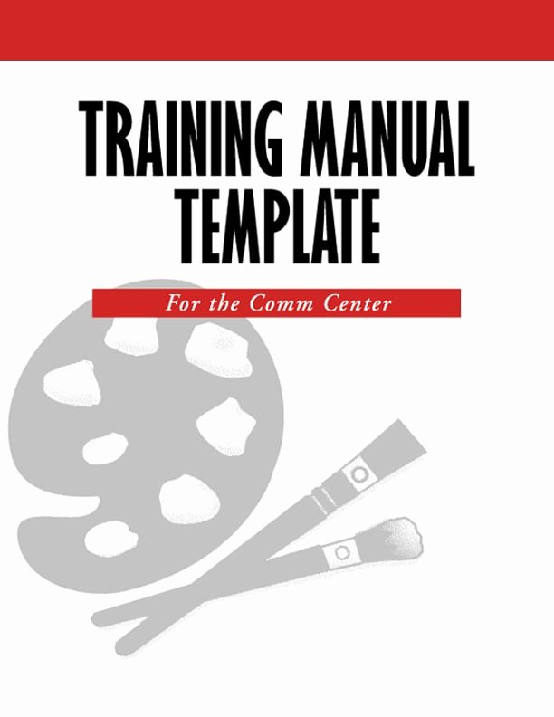 Ms Word Training Manual Template Unique 5 Free Training Manual Templates Excel Pdf formats