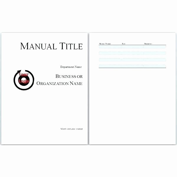 Ms Word Training Manual Template Unique Training Guide Template Reference Guide Template Word