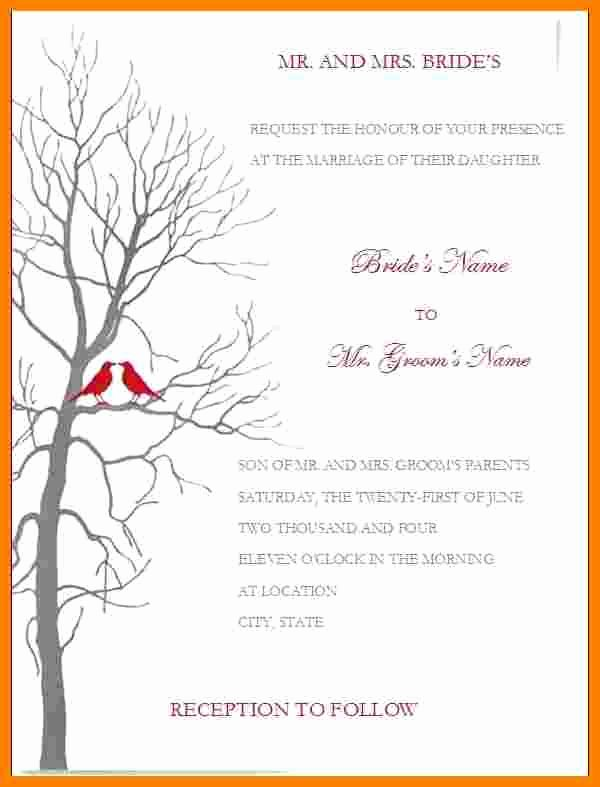 Ms Word Wedding Invitation Template Awesome 7 Wedding Invitation Templates Word