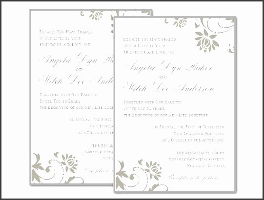 Ms Word Wedding Invitation Template Best Of 9 Blank Wedding Invitation Templates for Microsoft Word