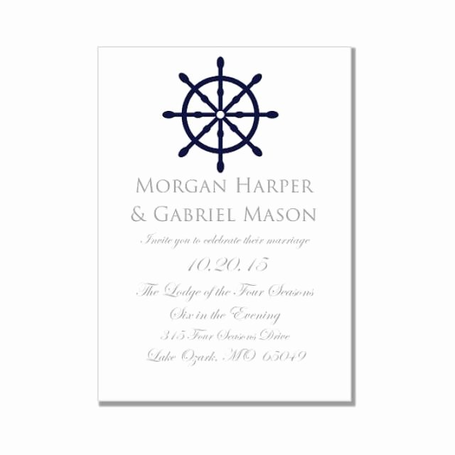 """Ms Word Wedding Invitation Template Best Of Nautical Wedding Invitation Template """"nautical Wheel"""