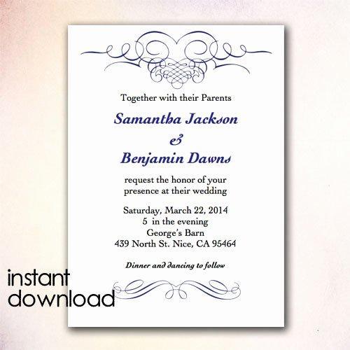 Ms Word Wedding Invitation Template Fresh Wedding Card Template Word Templates Data