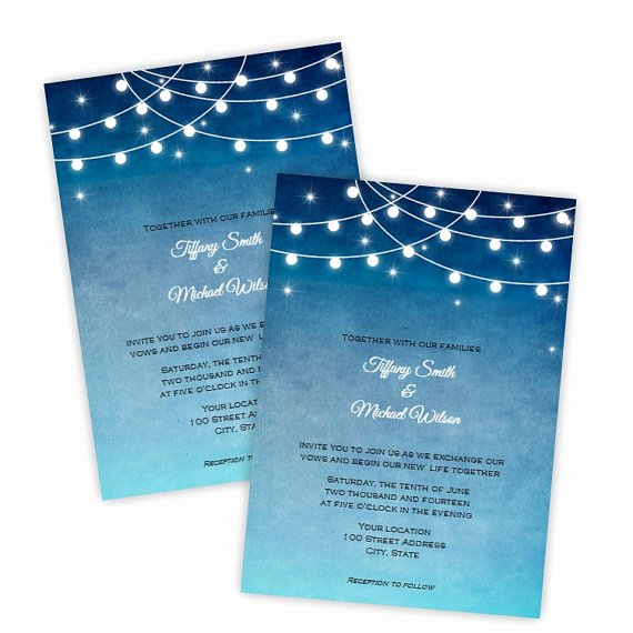 Ms Word Wedding Invitation Template Inspirational Wedding Invitation Lights at Night Diy Printable