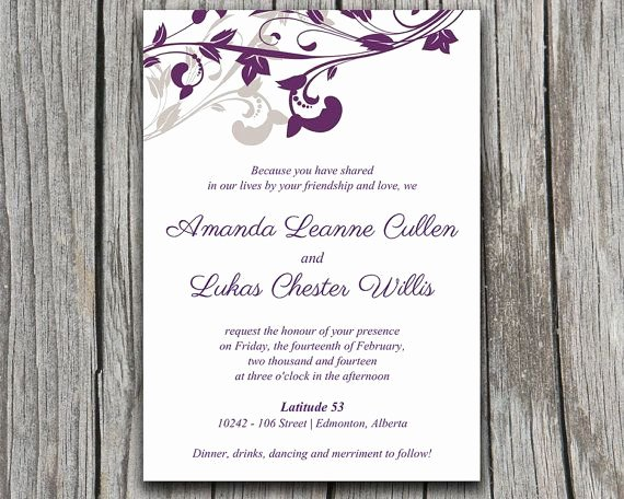Ms Word Wedding Invitation Template Inspirational Wedding Invitation Wording 5x7 Wedding Invitation Template