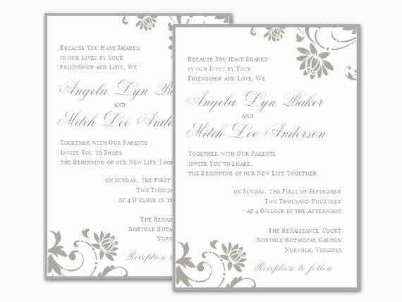 Ms Word Wedding Invitation Template Inspirational Wedding Invitation Wording Microsoft Fice Word Wedding