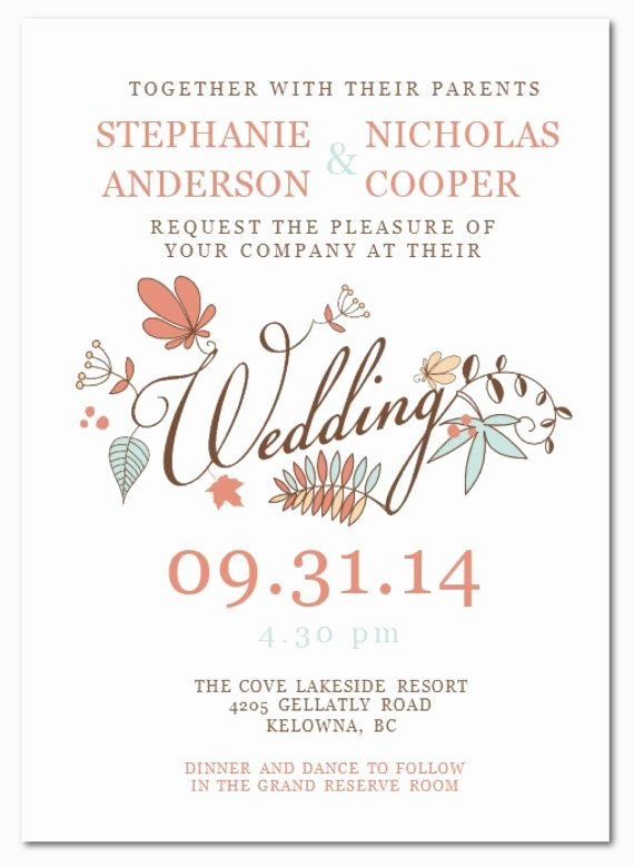 Ms Word Wedding Invitation Template Lovely Wedding Invitation Wording Diy Wedding Invitation