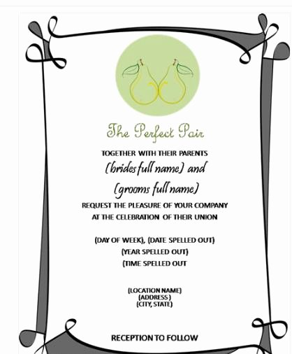 Ms Word Wedding Invitation Template New How to Create Wedding Invitation In Microsoft Word 2007