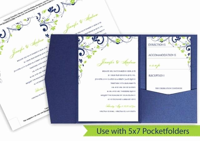 Ms Word Wedding Invitation Template New Pocket Wedding Invitation Template Set Download