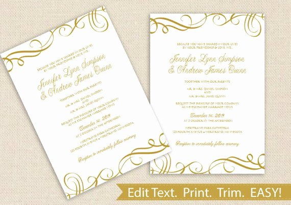 Ms Word Wedding Invitation Template New Printable Wedding Invitation Template Download by