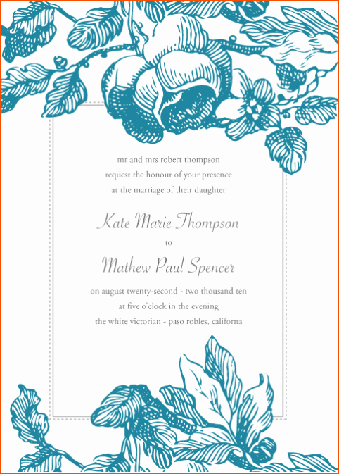 Ms Word Wedding Invitation Template Unique 8 Microsoft Word Invitation Templates Bookletemplate