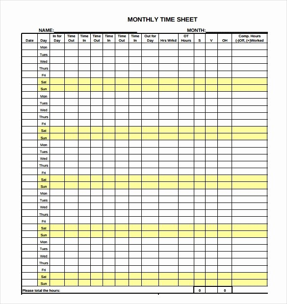 Multiple Employee Timesheet Template Beautiful 29 Free Timesheet Templates – Free Sample Example format