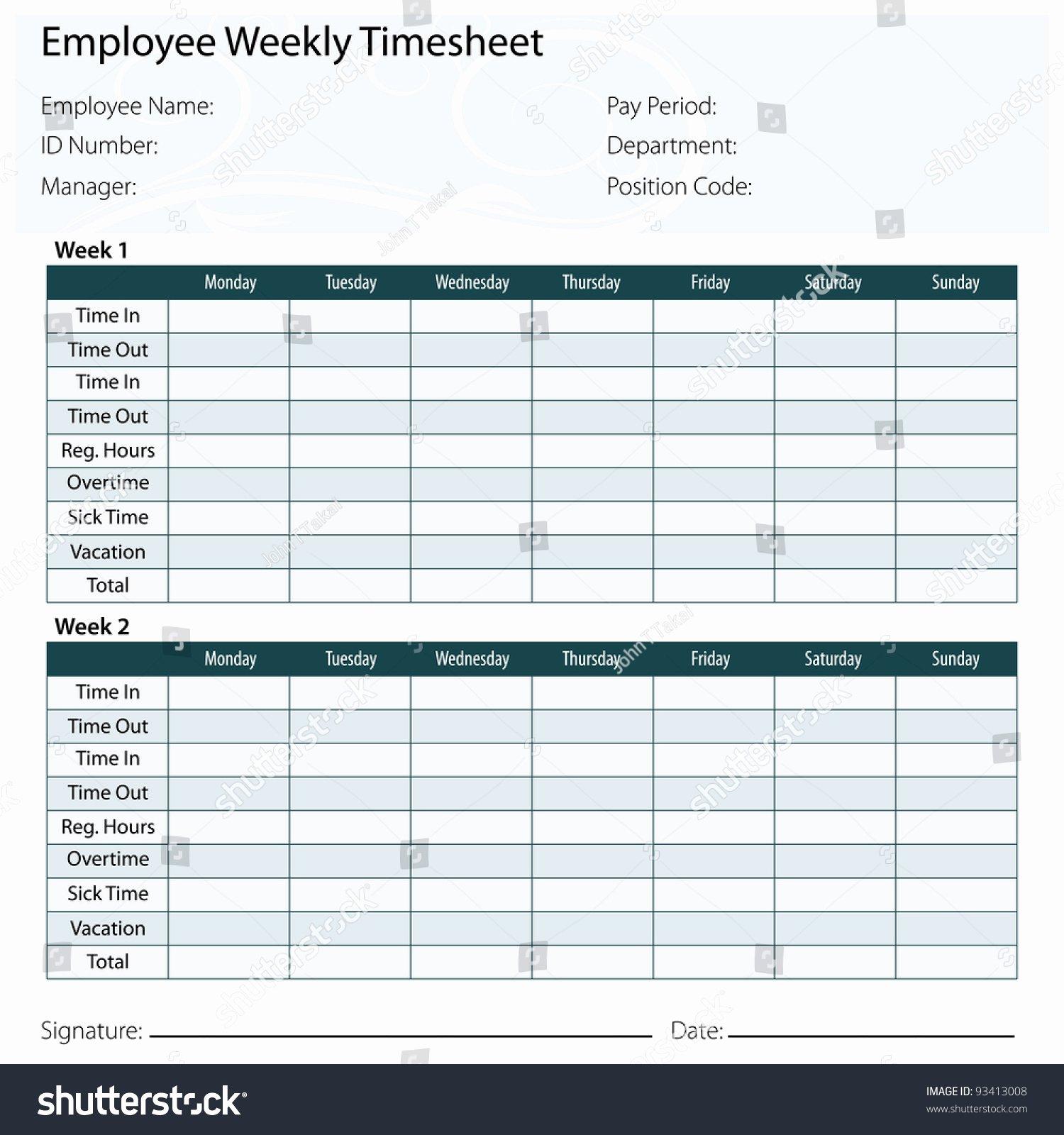 Multiple Employee Timesheet Template Fresh An Image A Employee Timesheet Template Stock Vector