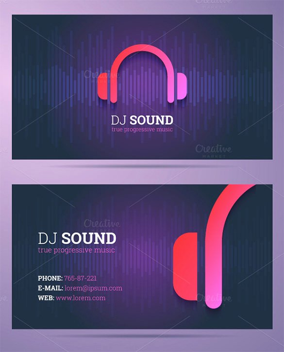 Music Business Card Template Awesome 18 Dj Business Cards – Free Psd Eps Ai Indesign Word