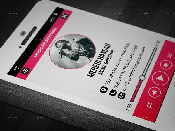 Music Business Card Template Awesome 26 Music Business Card Templates Psd Ai Word