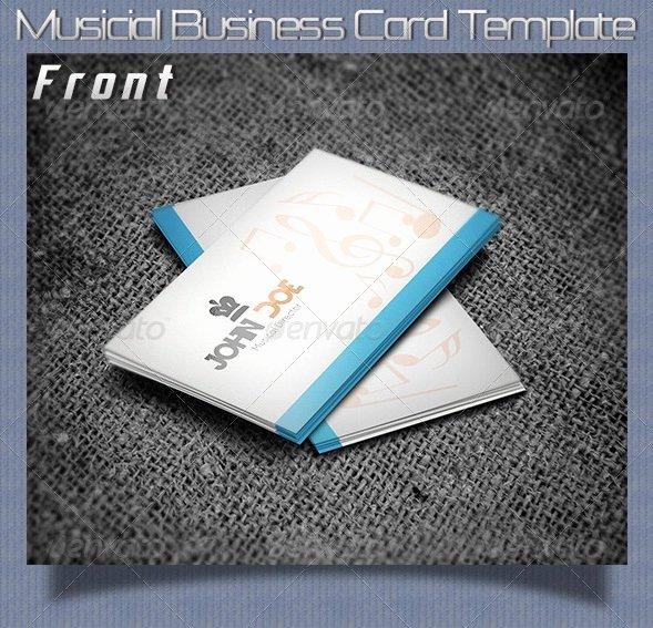 Music Business Card Template Beautiful 20 Music Business Card Templates