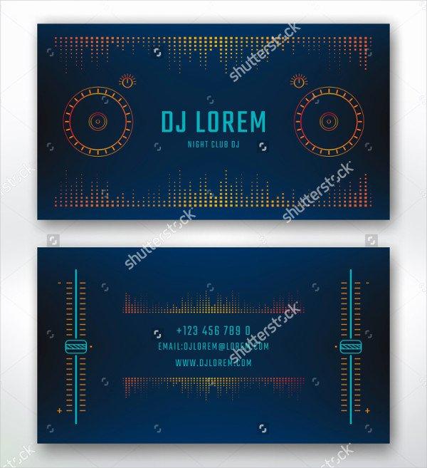 Music Business Card Template Beautiful 29 Music Business Card Templates Free & Premium Download