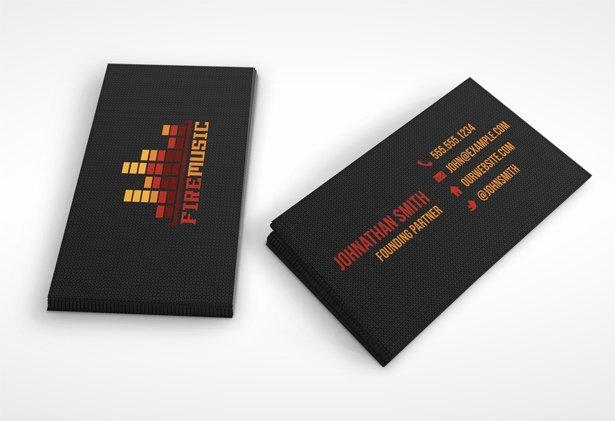 Music Business Card Template Beautiful Fire Music Business Card Template Vandelay Design