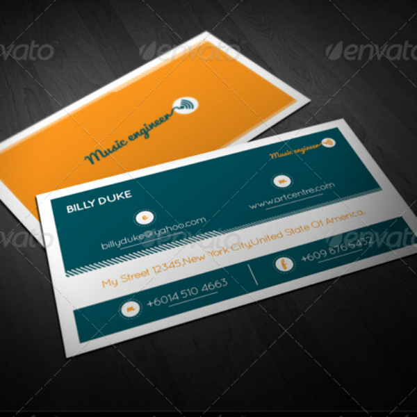Music Business Card Template Best Of 12 Engineer Business Card Designs & Templates Psd Ai