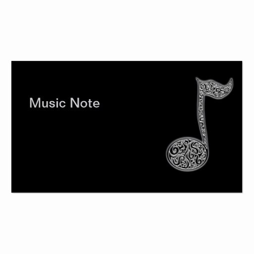 Music Business Card Template Best Of Music Note Businesscards Business Card Templates