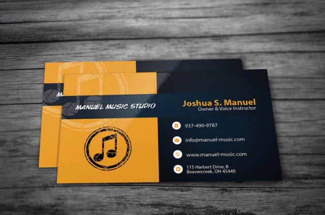 Music Business Card Template Elegant 30 Free Business Card Templates for Every Profession