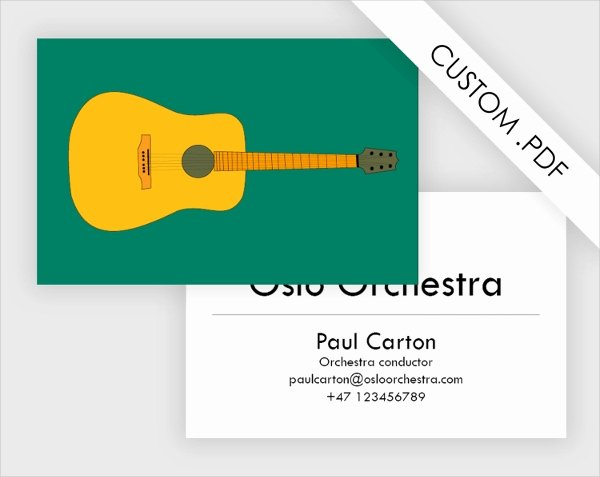 Music Business Card Template Fresh 26 Music Business Card Templates Psd Ai Word
