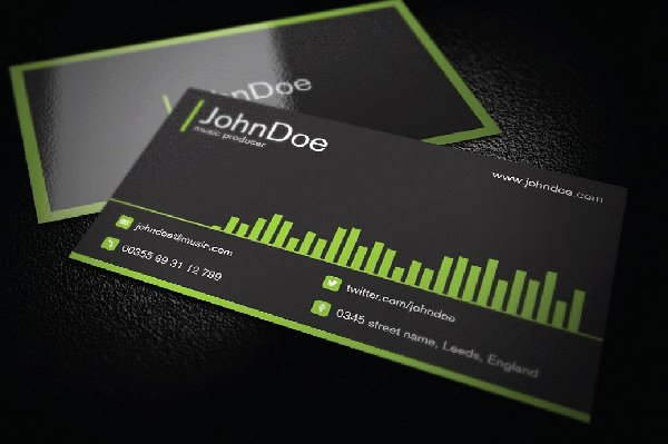 Music Business Card Template Fresh 29 Music Business Card Templates Free & Premium Download