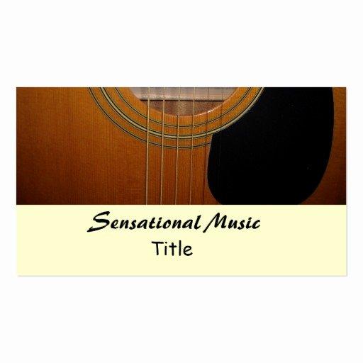 Music Business Card Template Fresh Guitars Sensational Music Double Sided Standard Business