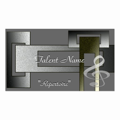 Music Business Card Template Fresh Music Talent Business Card Template
