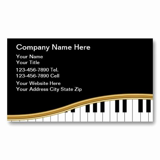 Music Business Card Template Inspirational 20 Best Images About Piano Teacher Business Cards On