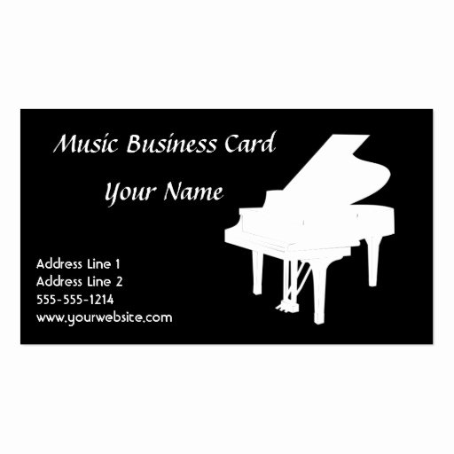 Music Business Card Template Lovely Music Business Card Templates Page38