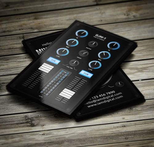 Music Business Card Template Luxury 25 Best Ideas About Dj Business Cards On Pinterest