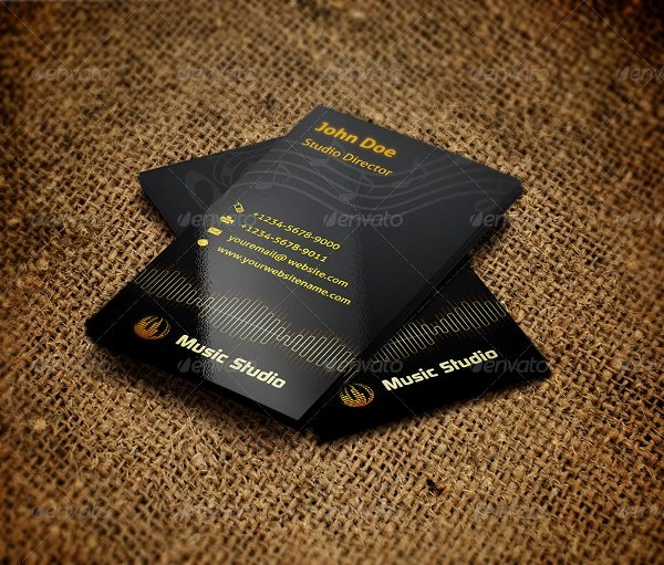 Music Business Card Template Luxury 26 Music Business Card Templates Psd Ai Word
