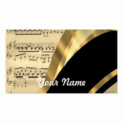 Music Business Card Template Luxury Music Business Card Templates