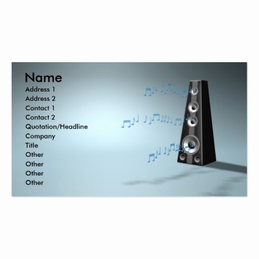 Music Business Card Template New Music B Business Card Template