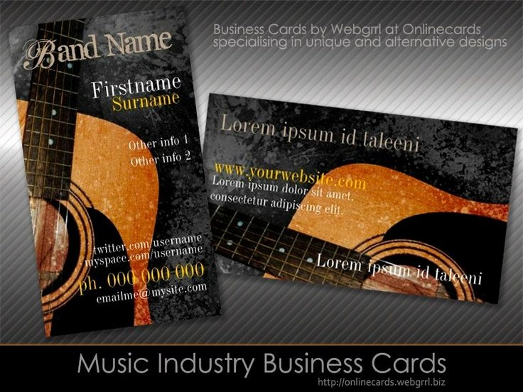Music Business Card Template Unique 8 Best Images About Music Business Cards On Pinterest