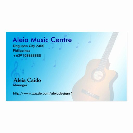 Music Business Cards Template Awesome Music Business Card Templates