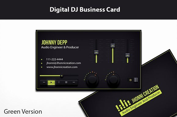 Music Business Cards Template Awesome Music Producer and Dj Business Card Business Card