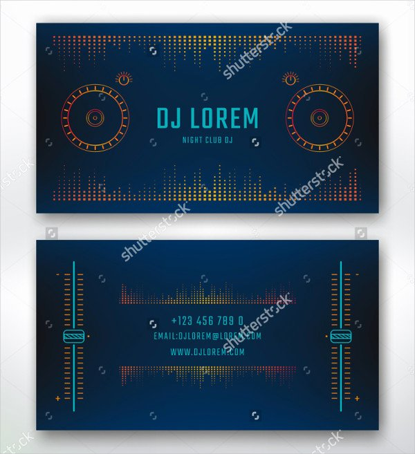 Music Business Cards Template Beautiful 29 Music Business Card Templates Free & Premium Download